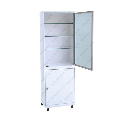Роял Медикал Трейдинг: шкаф металлический стекло в алюминиевой рамке шмс.01.00 (мод.1) купить в Санкт-Петербурге
