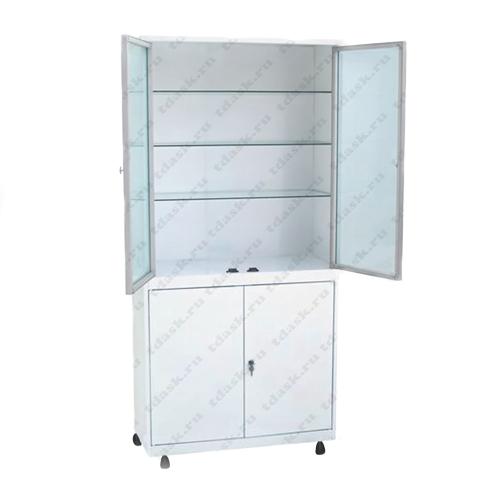 Роял Медикал Трейдинг: шкаф металлический стекло в алюминиевой рамке шмс.02.01 (мод.1) купить в Санкт-Петербурге