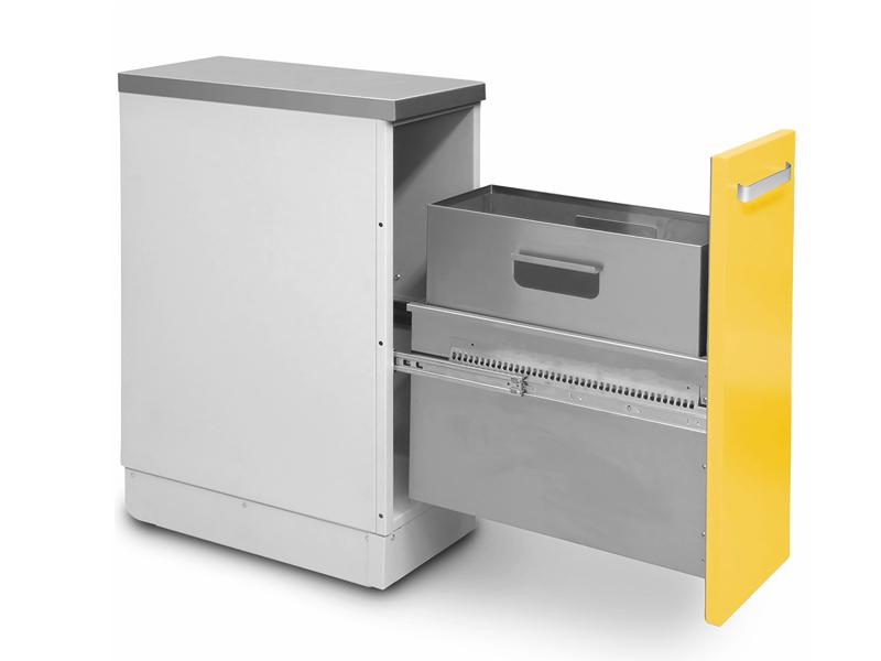 Роял Медикал Трейдинг: шкаф медицинский нижний для медицинских отходов (с выдвижной секцией) купить в Санкт-Петербурге