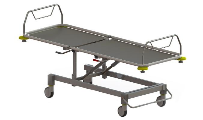 Роял Медикал Трейдинг: каталка больничная функциональная секционной конструкции серии 425 купить в Санкт-Петербурге
