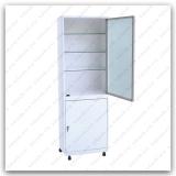 Роял Медикал Трейдинг: шкаф металлический стекло в алюминиевой рамке шмс.01.01 (мод.1) купить в Уфе