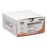 Роял Медикал Трейдинг: монокрил 5/0, 45 см, неокрашенный купить в Уфе