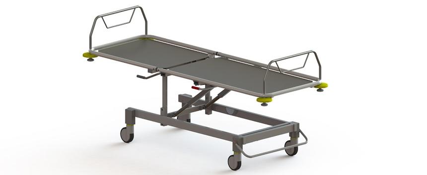 Роял Медикал Трейдинг: тележка для транспортировки пациента внутри отделения серия кб-420 купить в Санкт-Петербурге