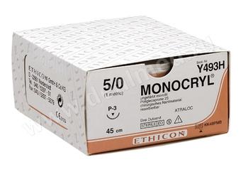 Роял Медикал Трейдинг: монокрил 5/0, 45 см, неокрашенный купить в Санкт-Петербурге